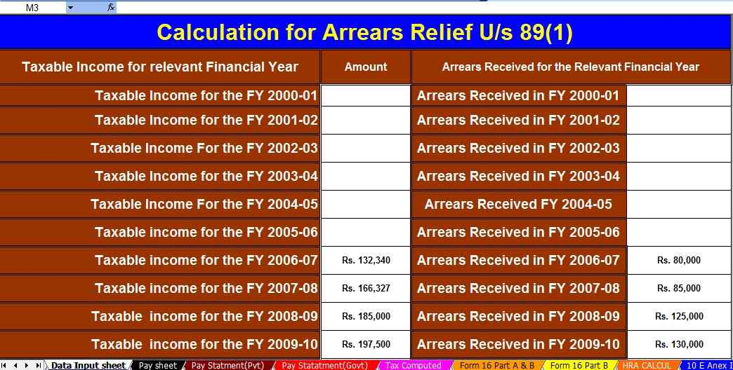 Section 80TTA – deduction against interest earned on the deposit. With Auto-fill Income Tax Salary Arrears Relief Calculator U/s 89(1) with Form 10 E for the F.Y.2021-22